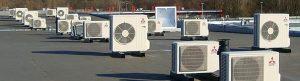 airconditioning op plat dak